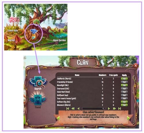 Search a clan