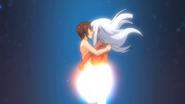 Liliana and Tatsuya kiss