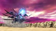 Mecha-Sekhmet firing with Leo-Blaster