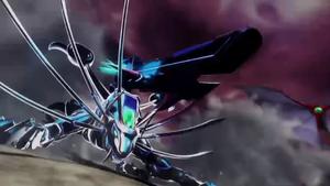 Mecha-Sekhmet armed with Leo-Blaster