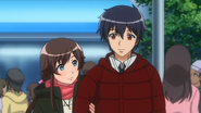 Shiori and Nozomu taking a walk