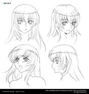 Yuuko Head Concept Art