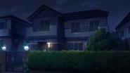 Aki's house at night