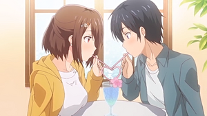Aki and Kouta drinking together