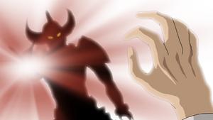 Kazuhiro transforms into a monster