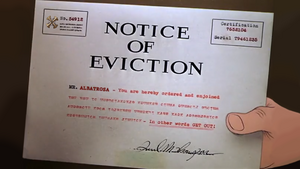 Connor's Eviction Notice