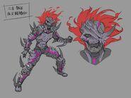 Gaiza Demon Form Concept Art