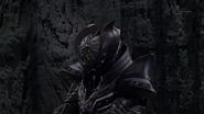Cursed armor struggling