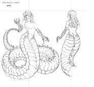 Snake Lady (Naga Form) Concept Art