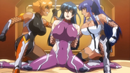 Asagi confronts evil Sakura and Murasaki