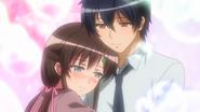 Nozomu and Shiori hugging