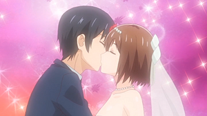 Kouta and Aki's wedding kiss