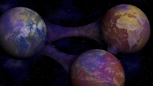 Three Earths interconnected