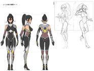 Amane concept art Taimanin suit