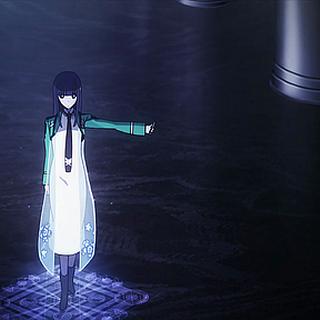 Miyuki usa una magia desconocida para saltar hasta el 2<sup>do</sup> piso durante el incidente con <a href=