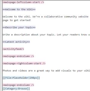 Main page tags editor