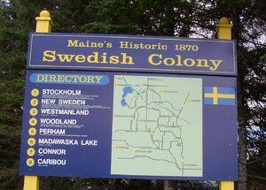 M swedish colony sign