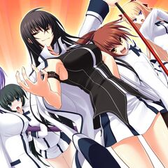 The line of main heroines. (Miyako is on Momoyo's left)