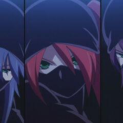 Tatsuko, Angel and Ami in ninja outfits (Anime)