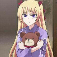 Chris with her bear (Anime)