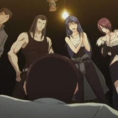 Tatsuko with her siblings and Shakadou captures Yamato (Anime)