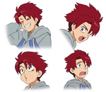 Shougo Character Design - Expressions