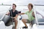 David and Joe in Boat