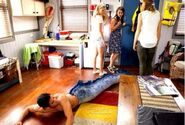 Zac falls in his garage