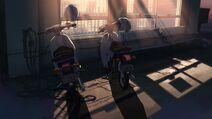 Kanae and Takaki Honda Cub