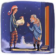 Christmas chicken by Owlgrim