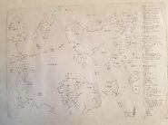 Malazan World Map by Erikson Early Draft