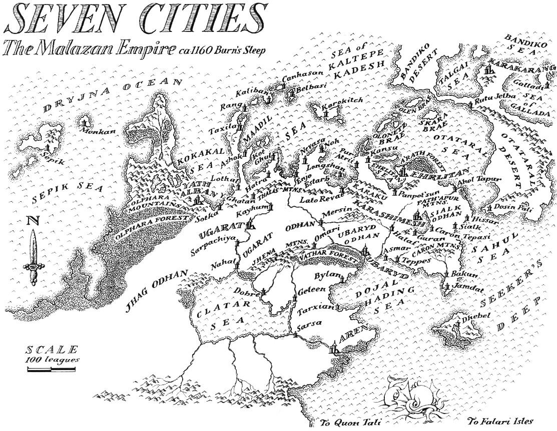 Image Map SevenCities From Deadhouse Gatesjpg Malazan Wiki - Geleen map