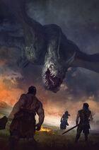 Dragon Tulas Shorn by Marc Simonetti