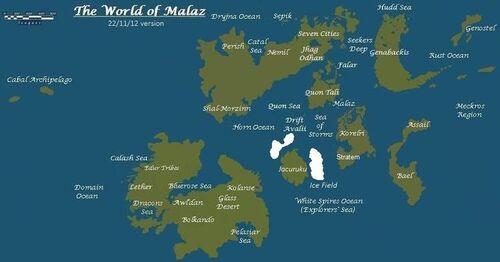 Malaz World Map