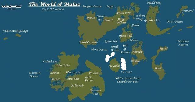 Bild - Malaz World Map.jpg   Das Spiel der Götter Wiki   FANDOM ...