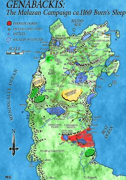 Map Genabackis (Malazan Campaign) Coloured