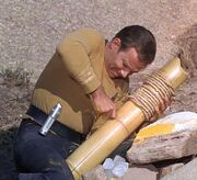 Captain Kirk battles a canonite