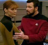 Riker cops a feel