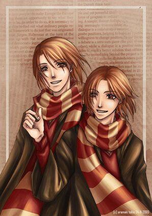 Weasley twins by aramaki