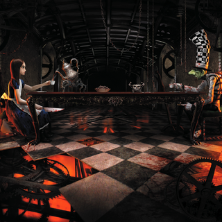 Promotional image of Alice and the  Mad Hatter.