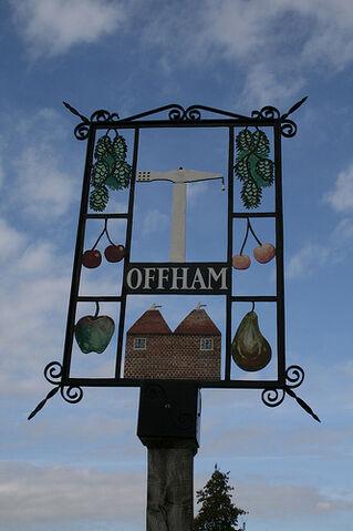 File:Offham, Kent - Village Sign.jpg
