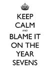 Keep calm and blame it on the year sevens
