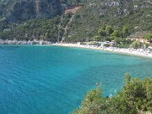 Beach on Skopelos Island, Greece