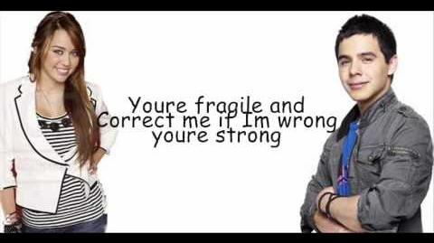 Miley Cyrus and David Archuleta - I wanna know you with lyrics