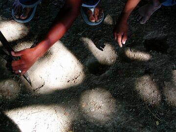 Digging holes villajaragua
