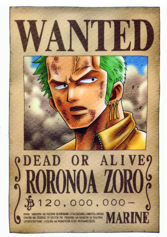 File:Zoro wanted by juju67.jpg