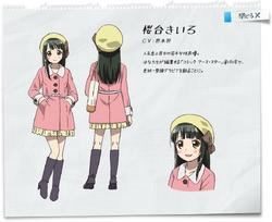 Kiiro's character design