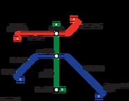 Carcer Subway Transit Map