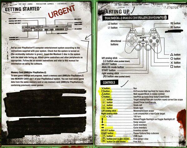 instruction manual for manhunt 2 wikihunt fandom powered by wikia rh manhunt wikia com ps2 instruction manuals for games ps2 instruction manuals for games