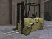 Forklift manhunt